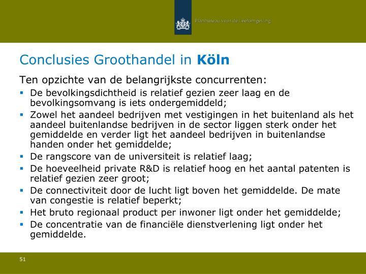 Conclusies Groothandel in