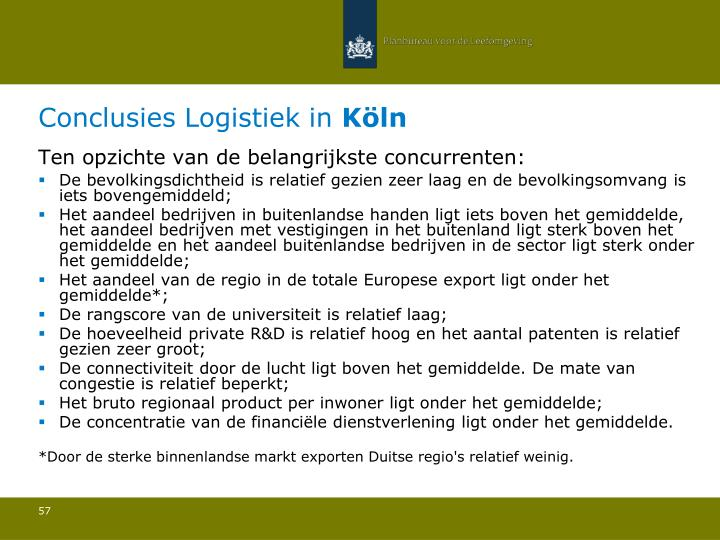 Conclusies Logistiek in