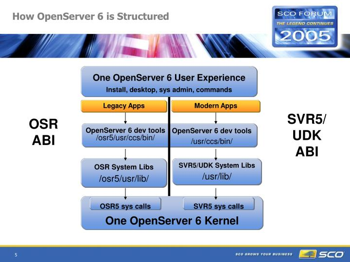 How OpenServer 6 is Structured