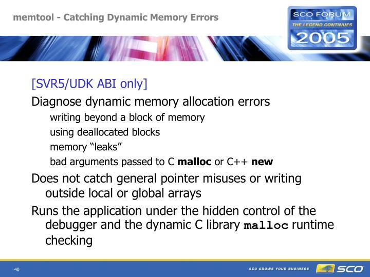 memtool - Catching Dynamic Memory Errors