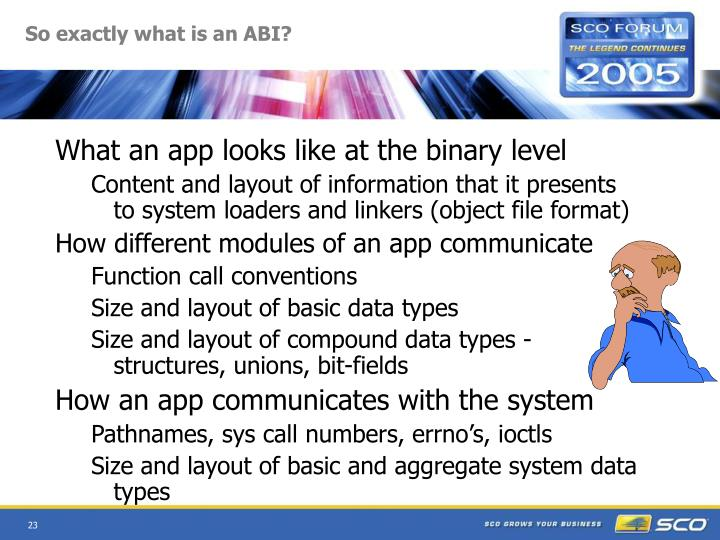 So exactly what is an ABI?