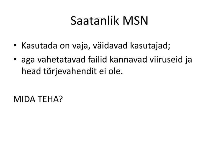 Saatanlik MSN