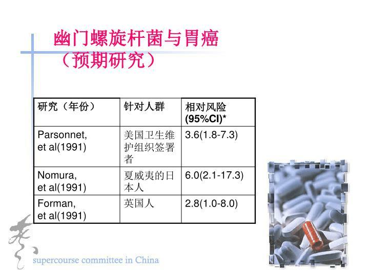 幽门螺旋杆菌与胃癌