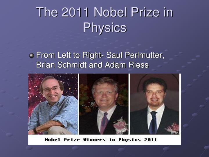 The 2011 Nobel Prize in Physics