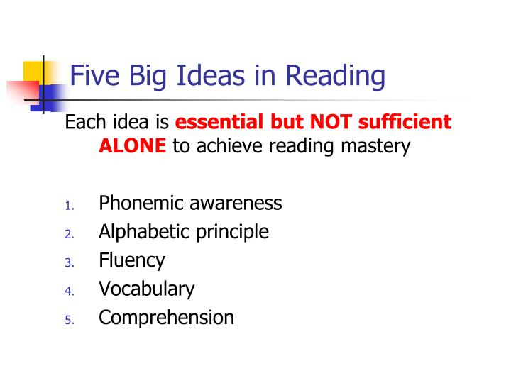 Five Big Ideas in Reading