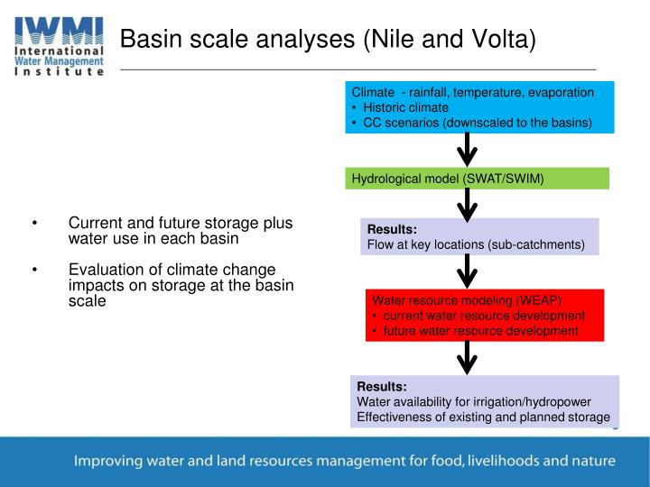 Basin scale analyses (Nile and Volta)