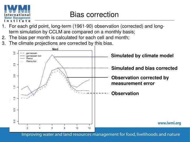 Bias correction