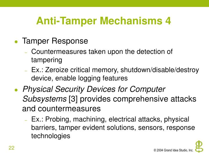 Anti-Tamper Mechanisms 4