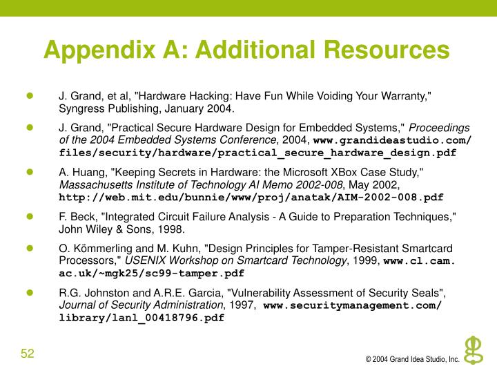 Appendix A: Additional Resources