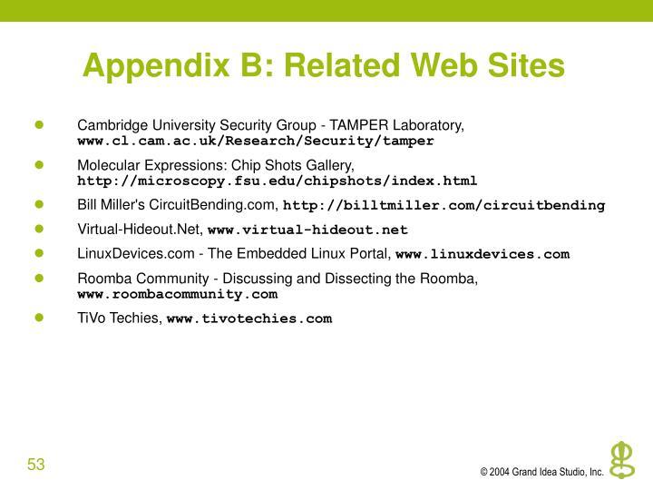 Appendix B: Related Web Sites