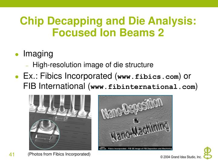 Chip Decapping and Die Analysis: