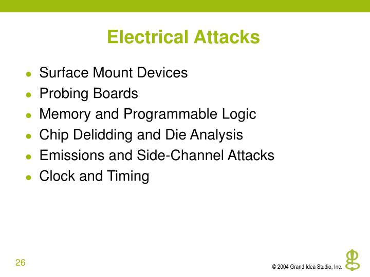 Electrical Attacks
