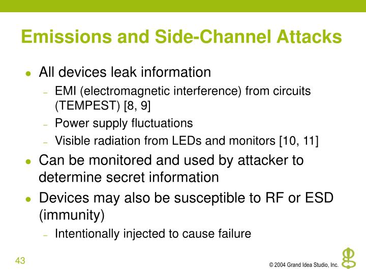 Emissions and Side-Channel Attacks