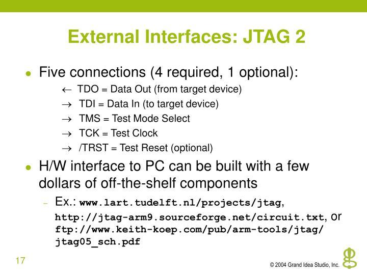 External Interfaces: JTAG 2