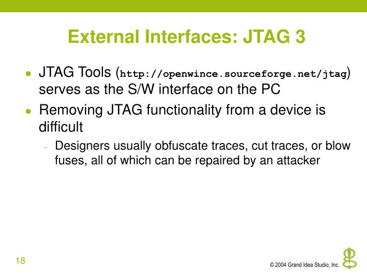 External Interfaces: JTAG 3