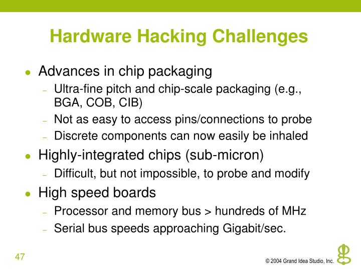 Hardware Hacking Challenges