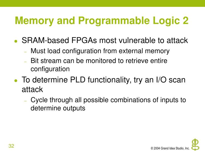 Memory and Programmable Logic 2