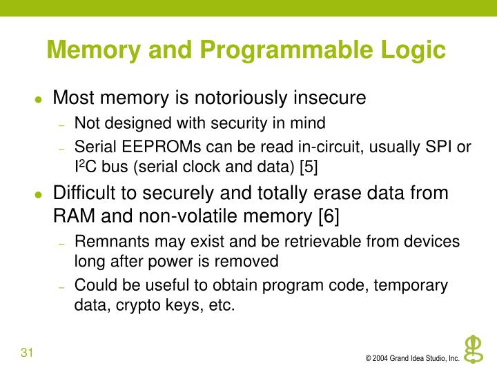 Memory and Programmable Logic