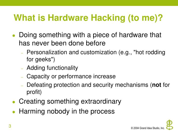 What is Hardware Hacking (to me)?