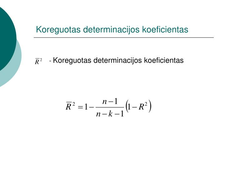 Koreguotas determinacijos koeficientas