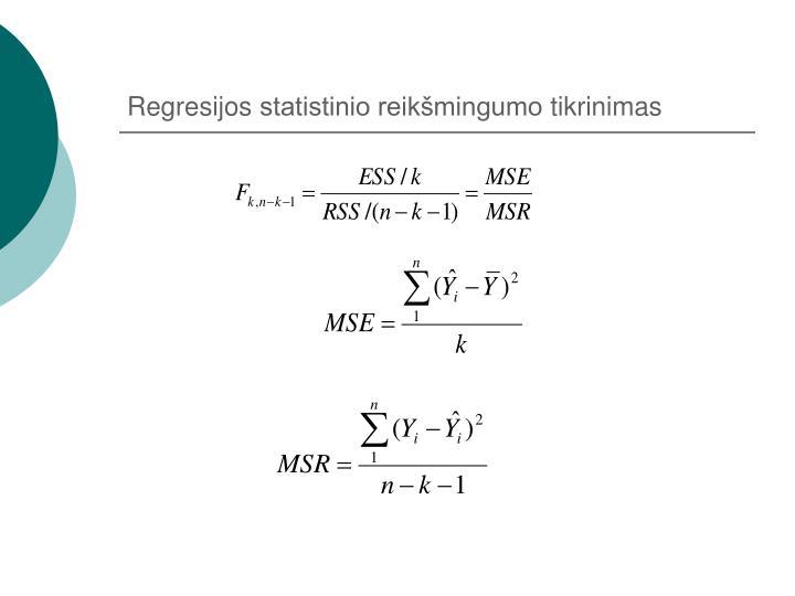 Regresijos