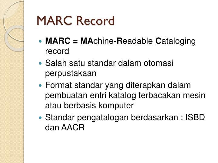 MARC Record