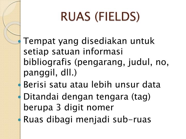 RUAS (FIELDS)