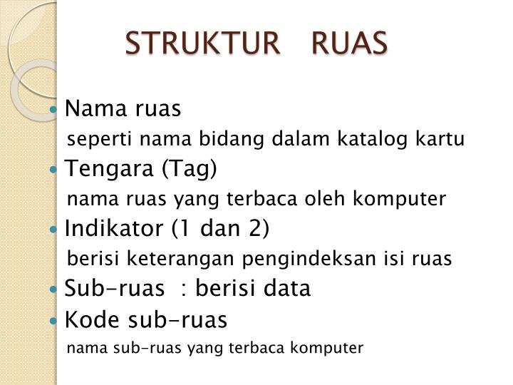 STRUKTUR   RUAS