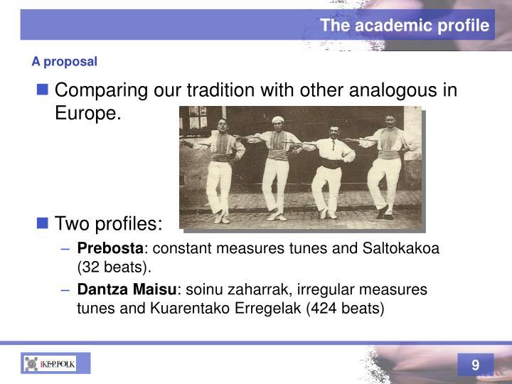 The academic profile