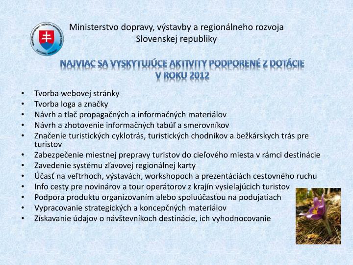 Ministerstvo dopravy, výstavby a regionálneho rozvoja