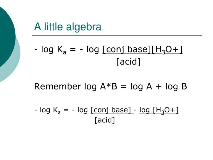 A little algebra