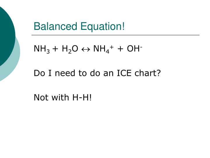 Balanced Equation!