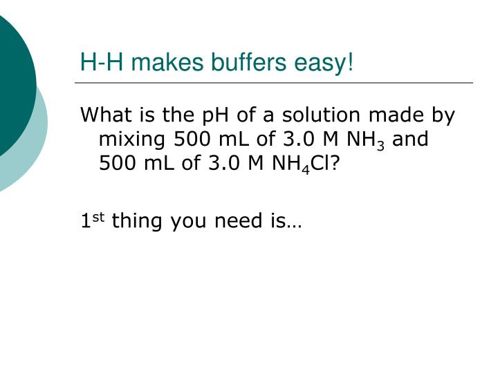 H-H makes buffers easy!