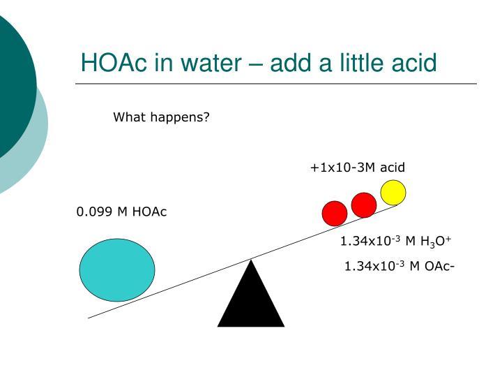 0.099 M HOAc