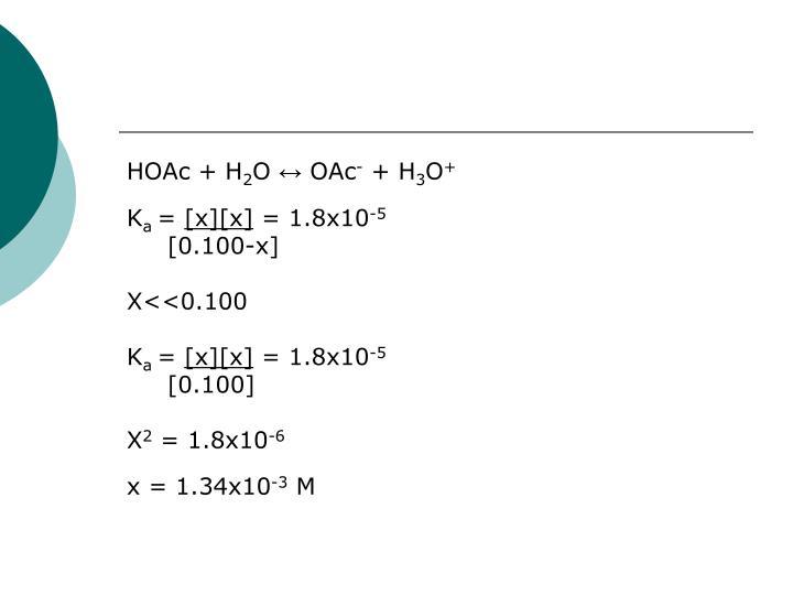 HOAc + H
