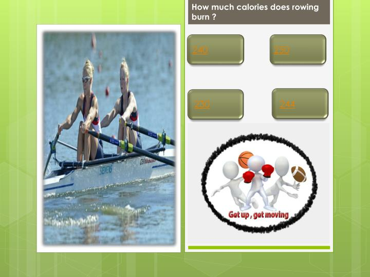 How much calories does rowing burn ?