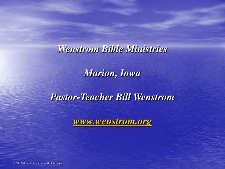 Wenstrom Bible Ministries