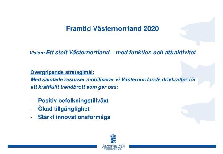 Framtid Västernorrland 2020