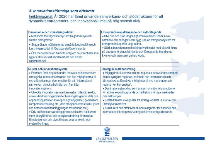3. Innovationsförmåga som drivkraft
