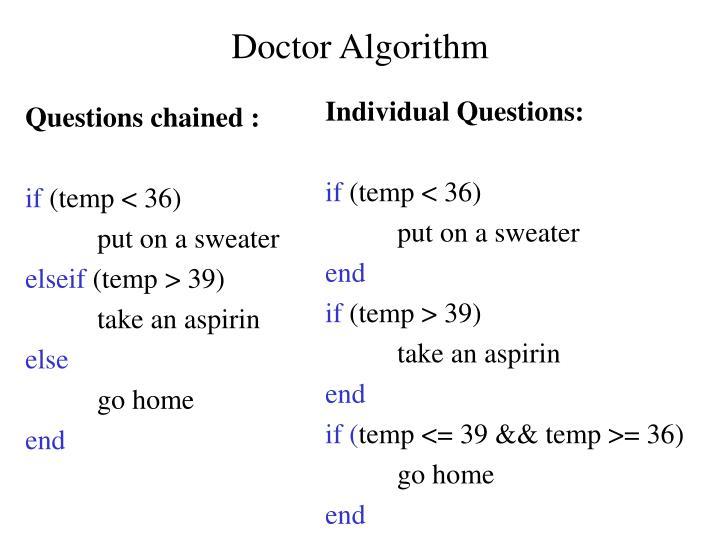 Doctor Algorithm