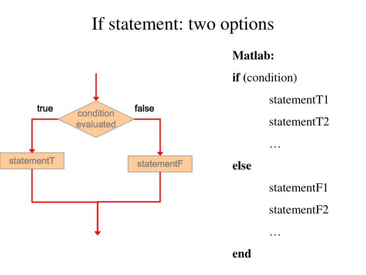 If statement: two options