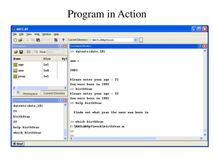 Program in Action