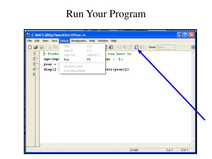 Run Your Program