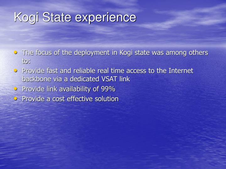 Kogi State experience
