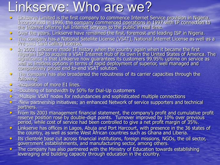 Linkserve who are we