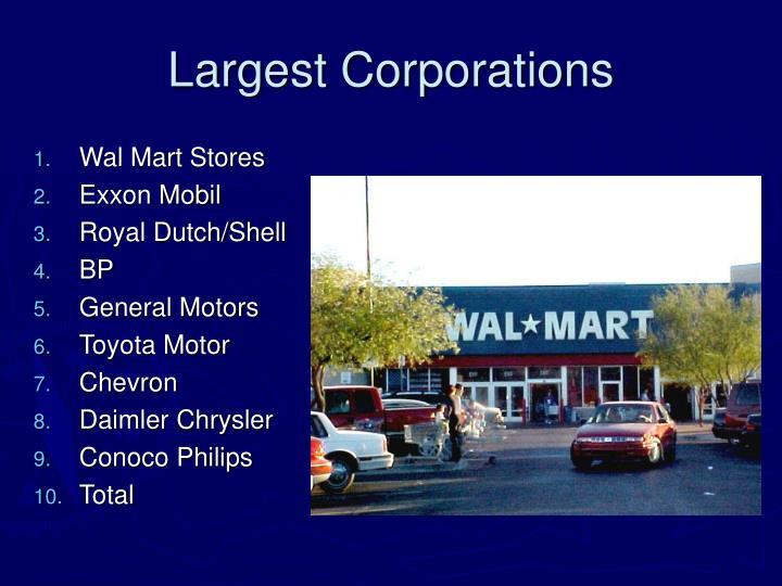Largest Corporations