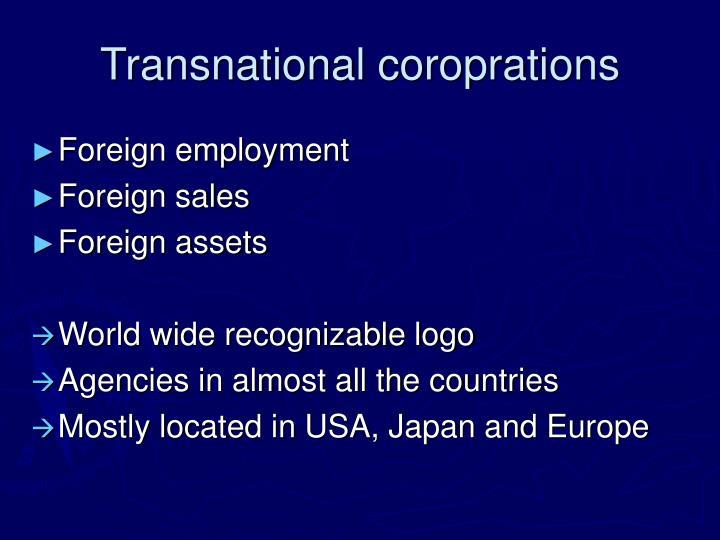 Transnational coroprations