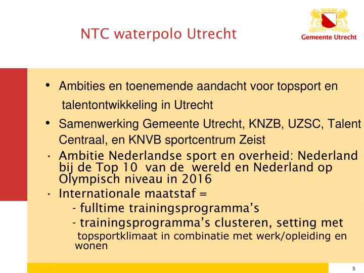 NTC waterpolo Utrecht