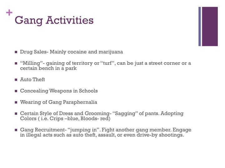 Gang Activities