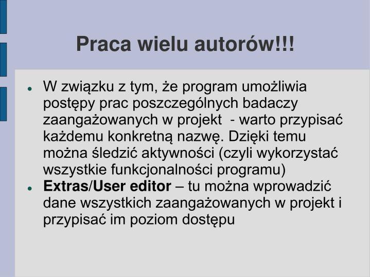 Praca wielu autorów!!!